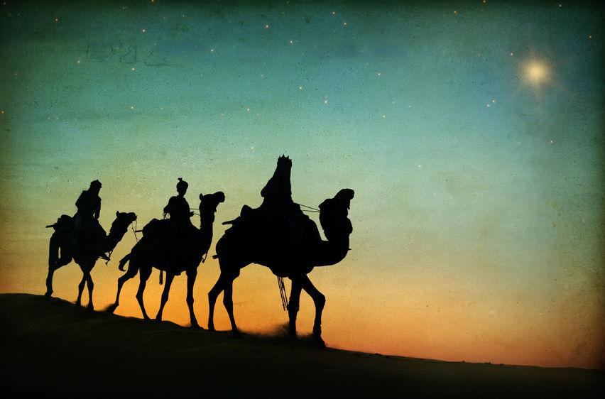 Wisemen Travelling to Worship Jesus