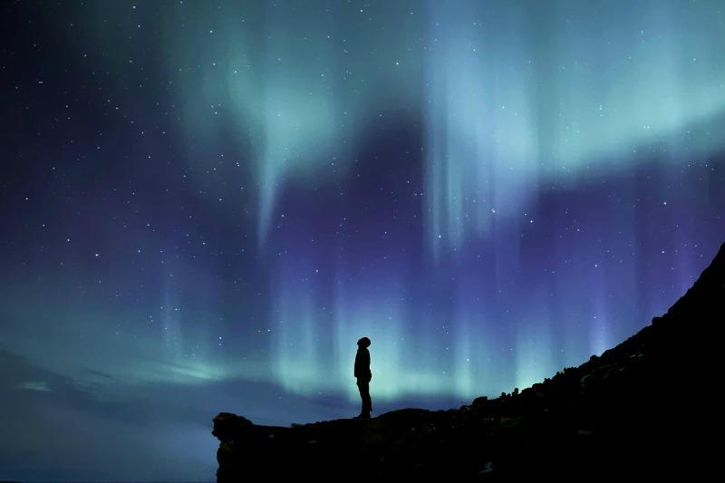 Man Staring Into Heaven Asking,
