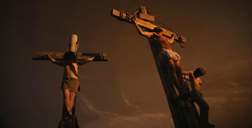 Jesus on the Cross Between Two Criminals